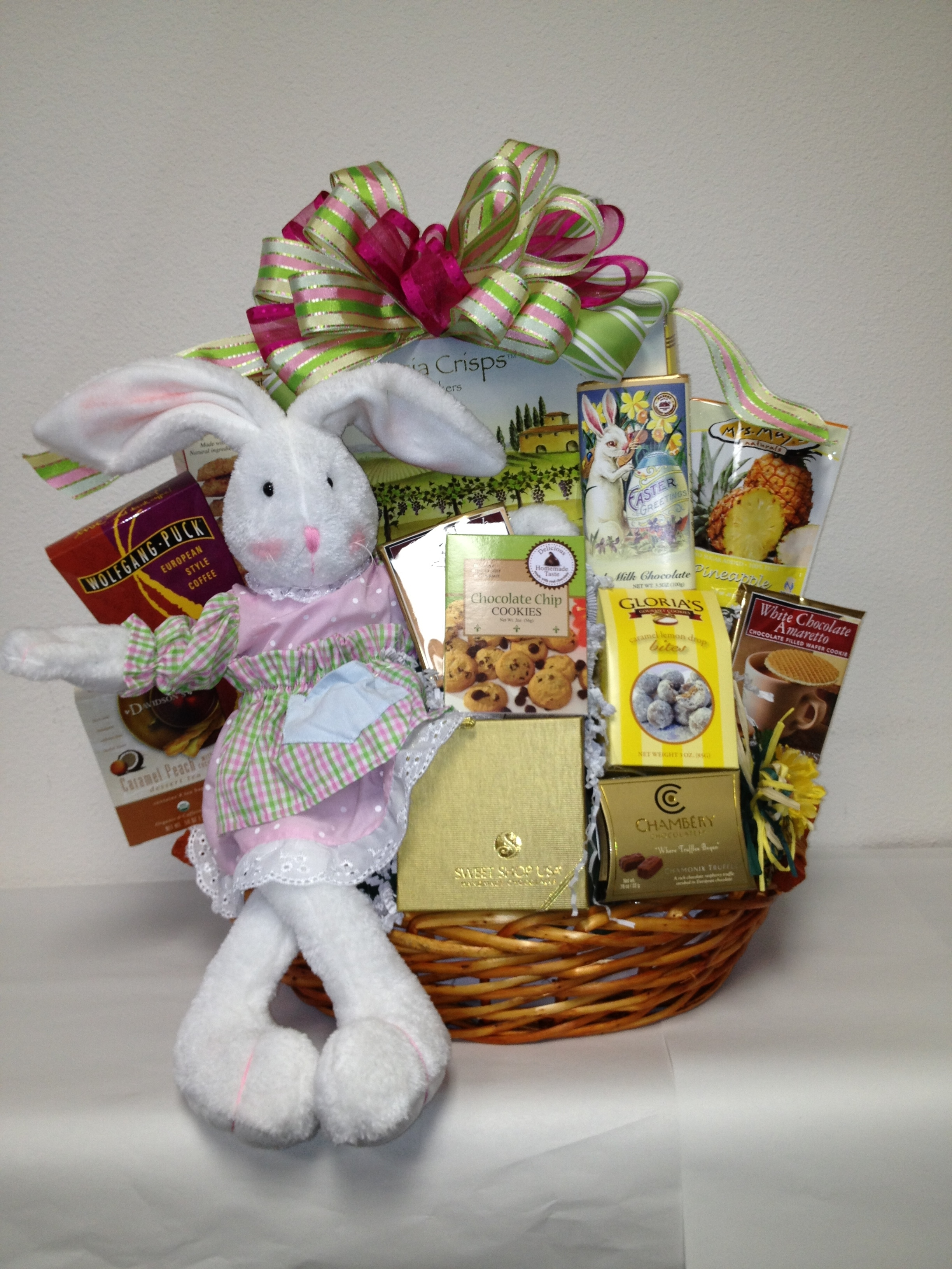 The gourmet easter gift basket san diego gift basket creations gourmet easter gift baskets for adults negle Image collections