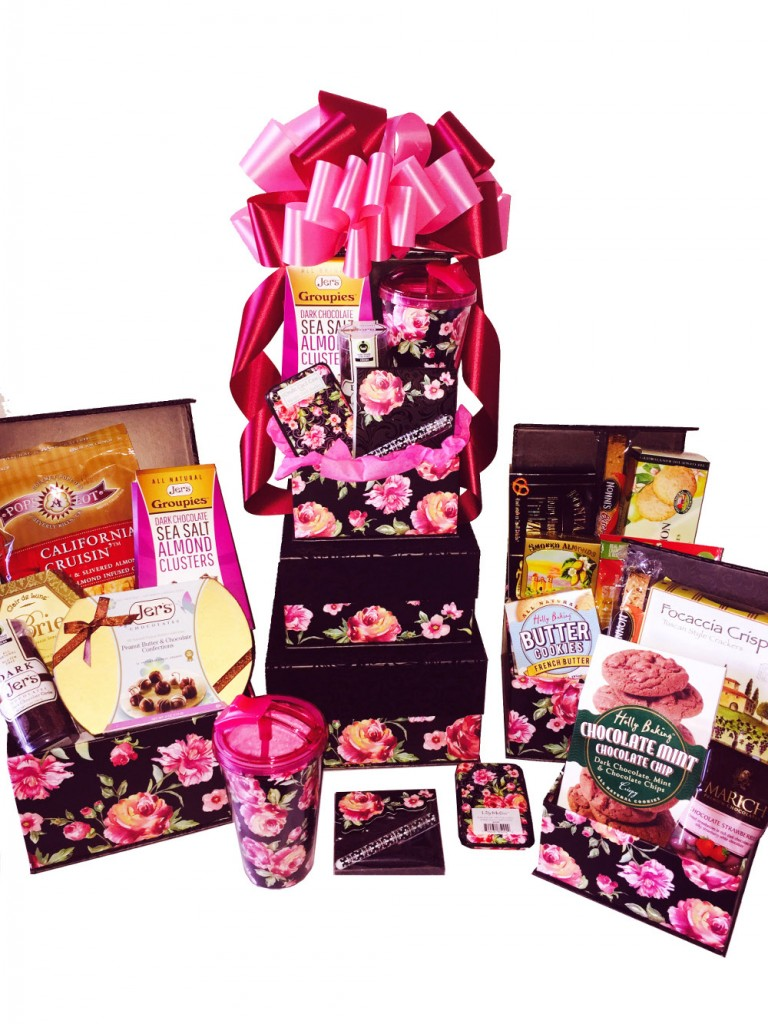 San Diego's The Best To You Vintage Rose and Gifts gourmet gift basket