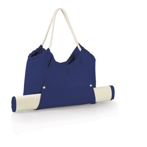 A Sleek and Functional Beach Bag with Beach Mat.
